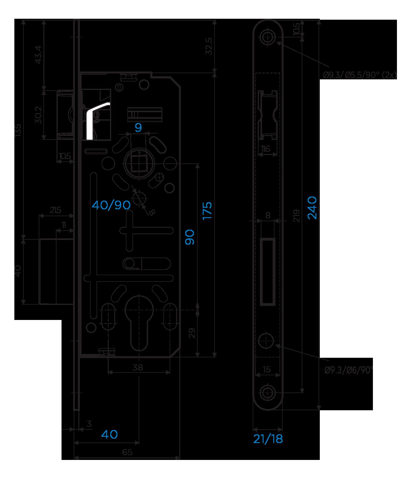 811/40-90 s podizačem-shema