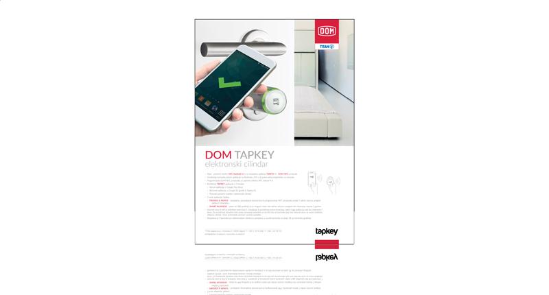DOM Tapkey elektronski cilindar