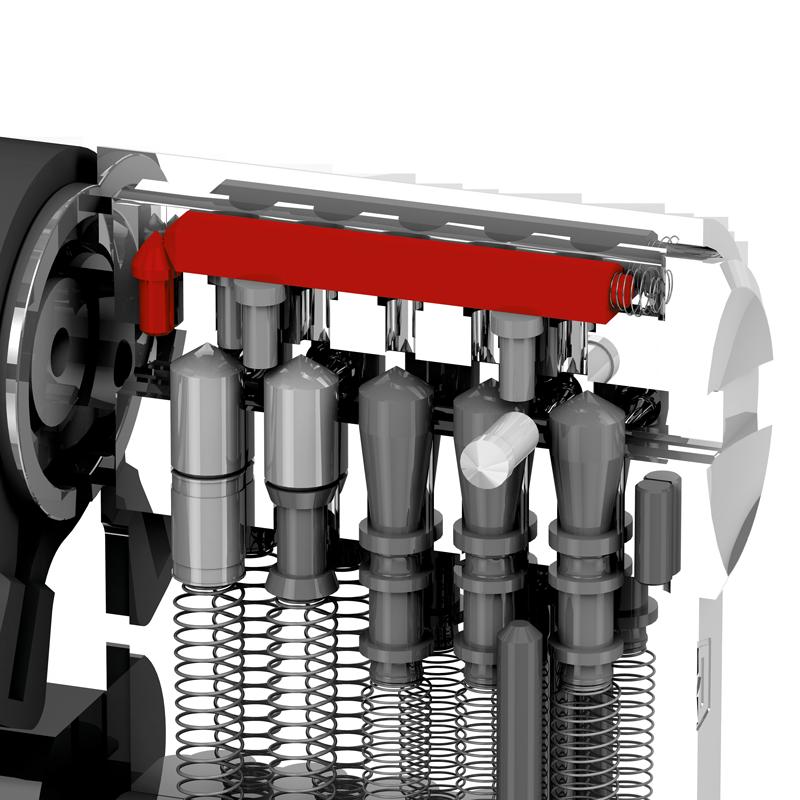 Patentirani trostruki mehanizam zaključavanja s blokirajućom letvom