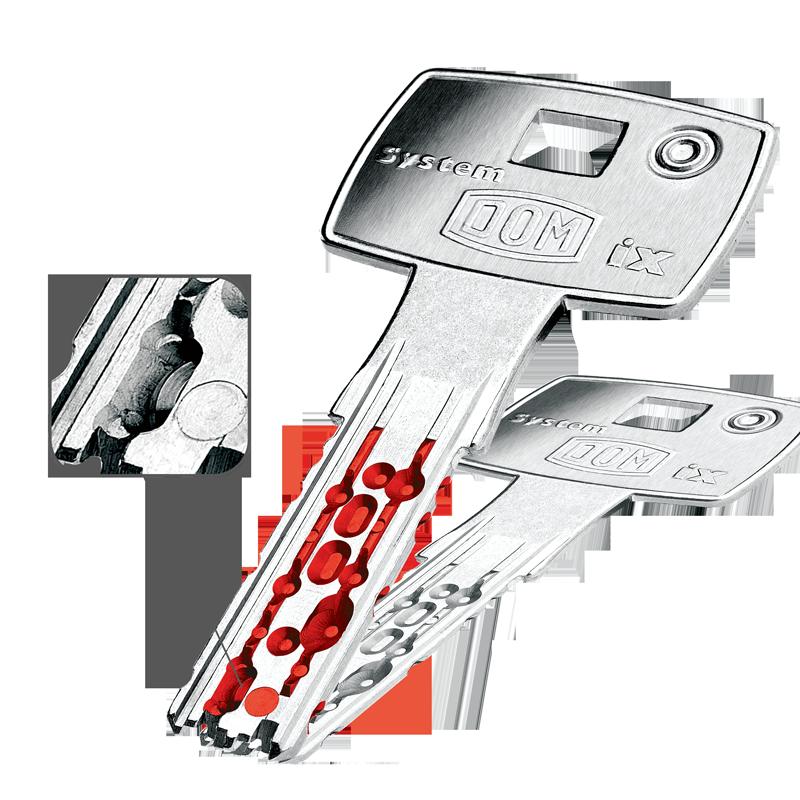 Robustan ključ od novog srebra s mobilnim diskom u profilu pod 45°