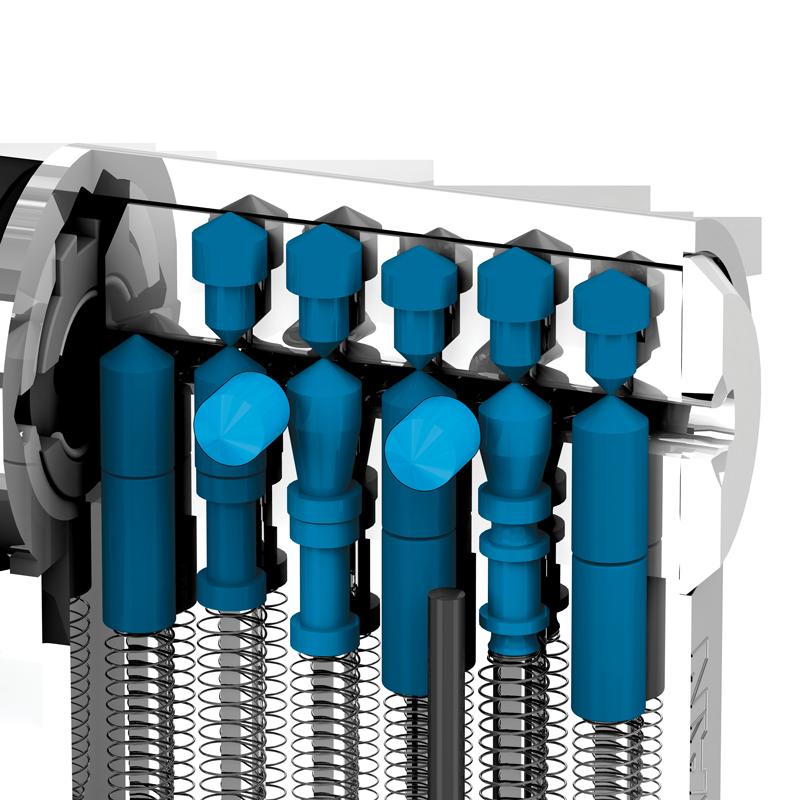 Trostruki mehanizam zaključavanja (osnovni, gornji, bočni)
