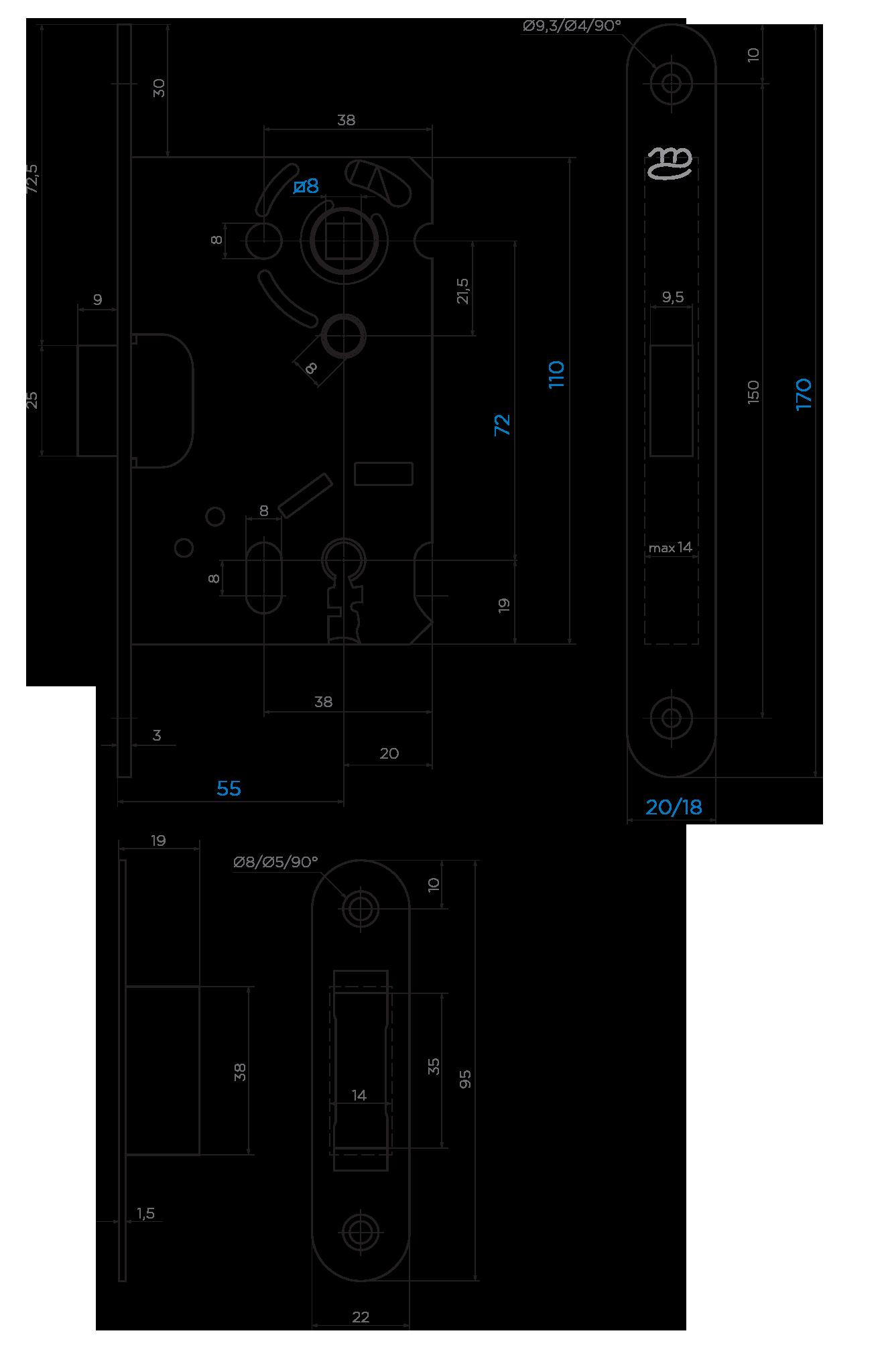 KOLIBER-M BB 72/55 SP-shema